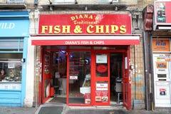 Рыбы и обломоки Лондона Стоковые Изображения RF