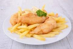Рыбы и обломоки стоковое изображение rf