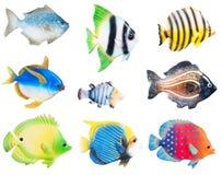 Рыбы керамического фарфора декоративные стоковые изображения rf