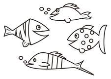 Рыбы - книжка-раскраска Стоковые Фотографии RF