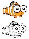 Рыбы клоуна шаржа Стоковые Изображения RF