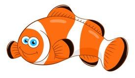 Рыбы клоуна шаржа Стоковое Изображение RF