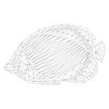 Рыбы мозаики тропические для красить и дизайна белизна изолированная предпосылкой бесплатная иллюстрация