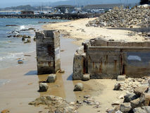 рыбы Монтерей cannery несуществующие старый Стоковое Фото
