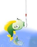 Рыбы на крюке бесплатная иллюстрация