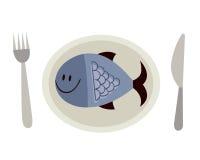 Рыбы на плите Стоковые Фотографии RF
