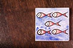 Рыбы на таблице Стоковые Фото