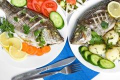 рыбы обеда Стоковые Изображения