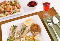 рыбы обеда Стоковое Изображение