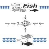 Рыбы логотипов Стоковые Изображения