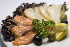 Рыбы отрезали посоленную закуску Стоковая Фотография RF