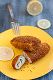 рыбы пальто breadcrumbs zrazy Стоковое Фото