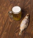 Рыбы, пиво Стоковое фото RF
