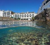 Рыбы подводная Испания Cadaques гостиницы портового района Стоковые Фото