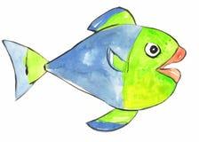 Рыбы покрашенные акварелью Стоковая Фотография RF