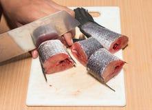 Рыбы, подготавливать Chopped Стоковое Фото
