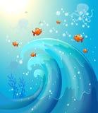 Рыбы под морем Стоковое фото RF