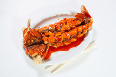 Рыбы под сладостным соусом Стоковое Изображение RF