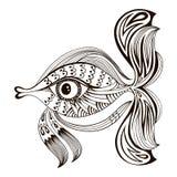 рыбы принципиальной схемы шаржа искусства 3d представляют конструируйте график Бесплатная Иллюстрация