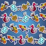 рыбы принципиальной схемы шаржа искусства 3d представляют Стоковые Фотографии RF