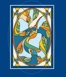 рыбы птицы иллюстрация вектора