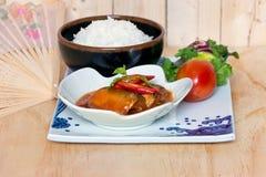 Рыбы сардин в томатном соусе Стоковое Изображение