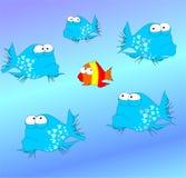 рыбы странные бесплатная иллюстрация