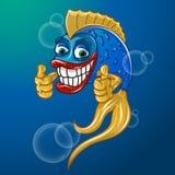 рыбы счастливые Бесплатная Иллюстрация