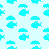 Рыбы с картиной зонтика Стоковые Фотографии RF
