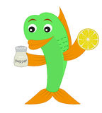 Рыбы с перцем и лимоном. Стоковые Фотографии RF