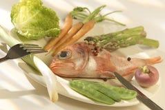 рыбы тарелки диетпитания Стоковые Изображения RF