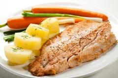рыбы тарелки Стоковые Изображения RF