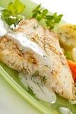 рыбы тарелки Стоковые Фотографии RF