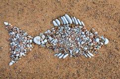 Рыбы текстуры каменные Стоковое Изображение RF