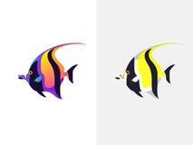 рыбы тропические Идол Moorish иллюстрация вектора
