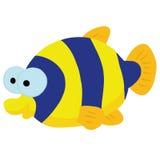 Рыбы шаржа в свете - голубом море Стоковые Фото