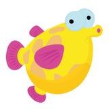 Рыбы шаржа в свете - голубом море Стоковые Изображения
