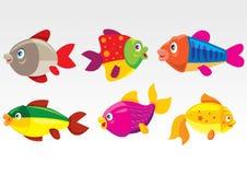 рыбы шаржа Стоковые Фотографии RF