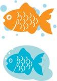 Рыбы шаржа. Стоковое Изображение RF