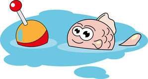 Рыбы шаржа. иллюстрация штока