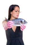 рыбы doesn любят t который женщина Стоковые Фото