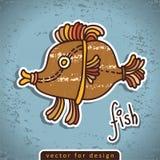 Рыбы doodle вектора декоративные Стоковое фото RF