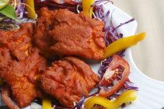Рыбы Kebab - закуска сделанная зажаренных рыб Стоковая Фотография RF
