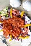 Рыбы Kebab - закуска сделанная зажаренных рыб Стоковые Фотографии RF