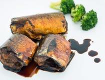 Рыбы Saba зажаренные в соусе teriyaki Стоковая Фотография RF