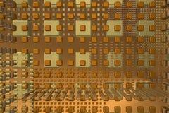 Рыжеватая предпосылка техника с кубами Стоковые Изображения RF