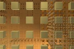 Рыжеватые кубы техника в предпосылке Стоковые Фото