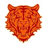 Рык тигра иллюстрация штока