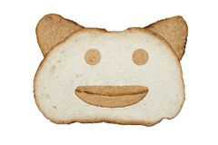 Рыльце животного сделанного из хлеба Стоковые Изображения