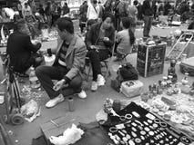 Рынок антиквариата воскресенья стоковое фото